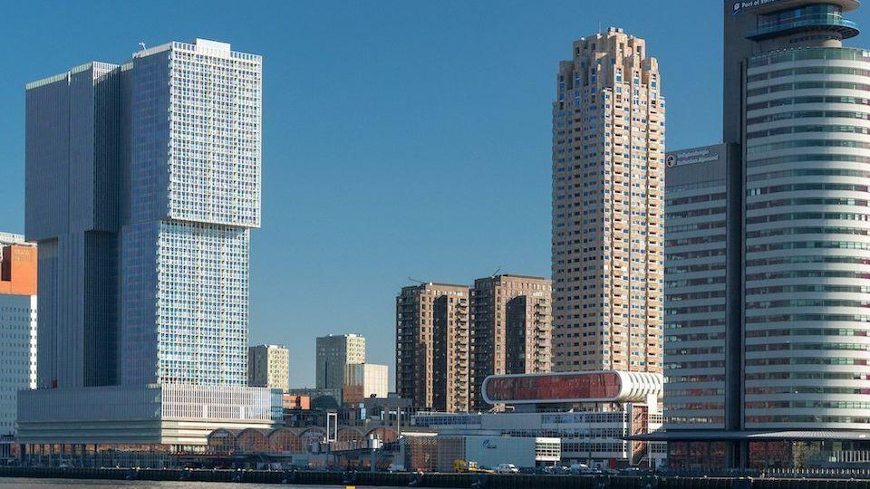 Netherlands South Holland Rotterdam Southbank area along Nieuwe Maas